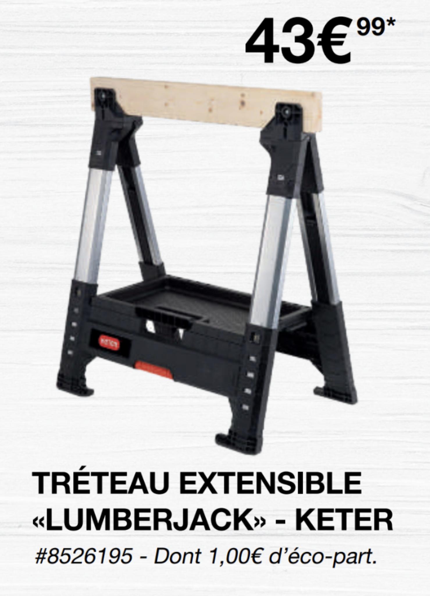 [Carte Costco] Tréteau Extensible Keter Lumberjack - Villebon-sur-Yvette (91)