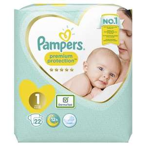 Paquet de 22 Couches Pampers Premium Protect T1 (2/5kg)