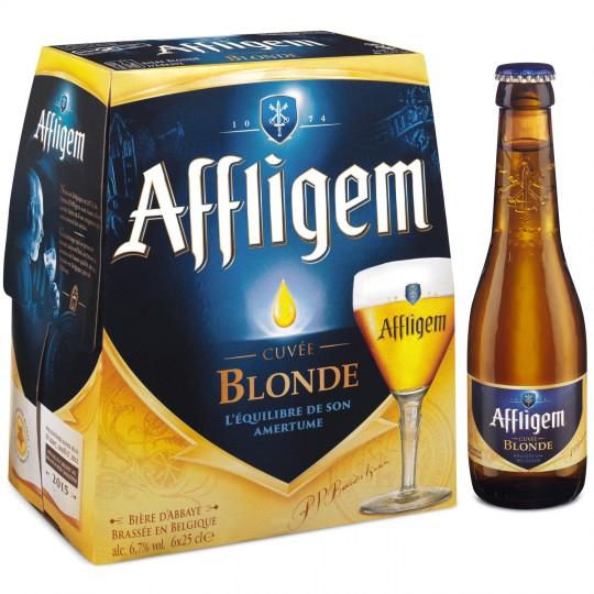 Pack de 6 bières d'Abbaye Affligem cuvée blonde - 6 x 25 cl