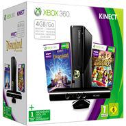 Console XBOX 360 4 Go + Kinect +  Kinect Adventures + Kinect Disneyland