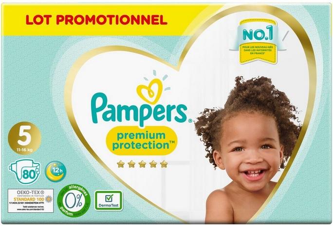 Pack de couches Pampers premium Protection ou Pampers harmonie - différentes tailles (via 21,70 € sur la carte de fidélité + BDR)