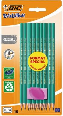 Sélection de fournitures scolaires en promotion - Ex: Lot de 15 crayons BIC Graphite HB + Mini gomme (Via 0,75 € sur la carte de fidélité)