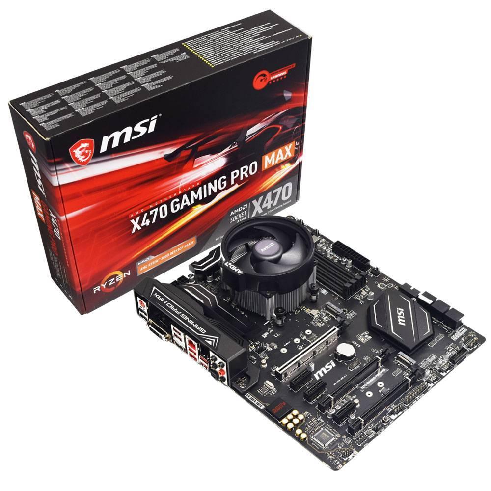 Carte mère MSI X470 Gaming Pro Max + Processeur Ryzen 9 3900 (12 cores)
