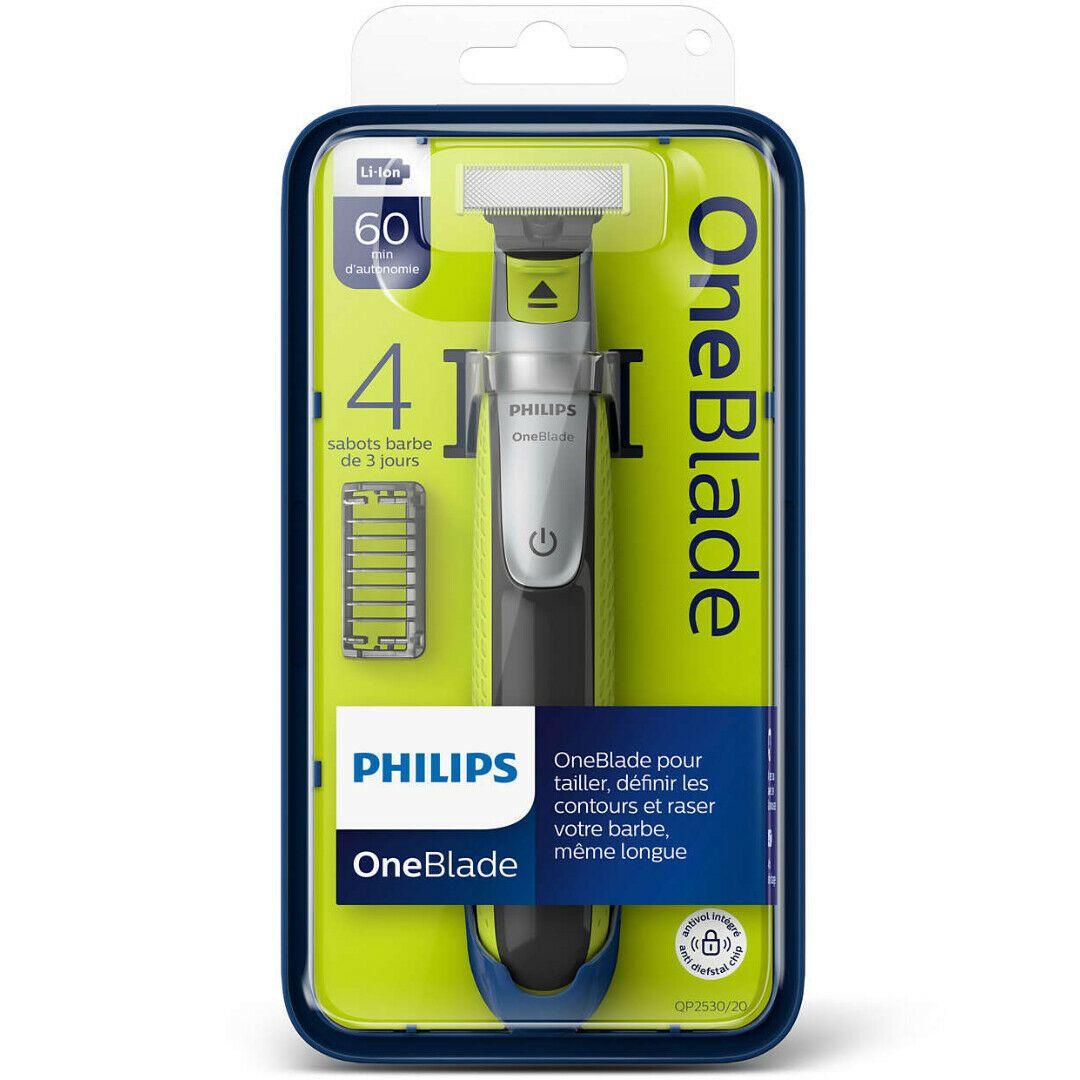Tondeuse / Rasoir électrique Philips OneBlade QP2530/20 avec 4 Sabots (via 19.25€ sur la carte fidélité)