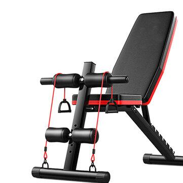 Banc de musculation pliable et réglable 5-en-1 AB - 130x42x40>102 cm (entrepôt UK)