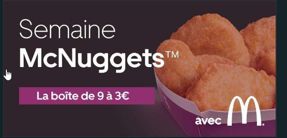 Boîte de 9 Nuggets à 3€ - McDonald's Saint-Ouen-l'Aumône (95)