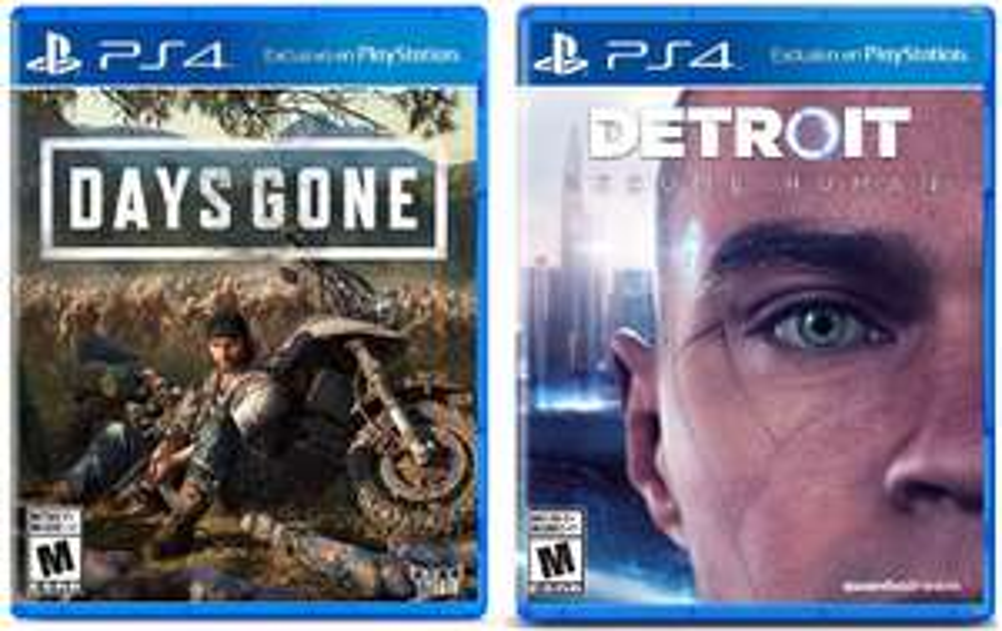 Days Gone + Detroit Become Human sur PS4 + 1,25€ de SuperPoints (Jeu FR / Boîtier ES)