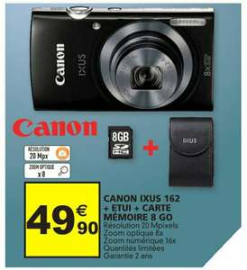 Appareil photo Canon IXUS 162 + Carte SD 8Go + Housse