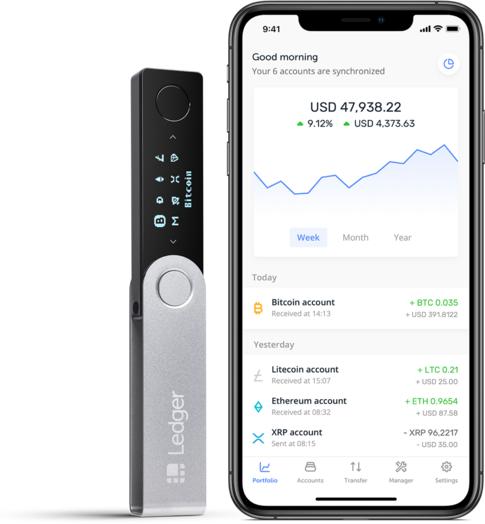 Portefeuille pour cryptomonnaies Ledger Nano X (shop.ledger.com)