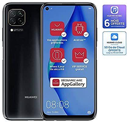 "Smartphone 6.4"" Huawei P40 Lite - full HD+, Kirin 810, 6 Go de RAM, 128 Go (Sans Services Google)"