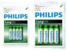 Lot 48 piles Philips LongLife AA LR6 + 48 Piles Philips LongLife AAA LR03