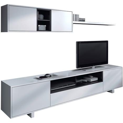Ensemble meuble TV bas et haut Ellius - L200 cm (via 141€ sur la carte)