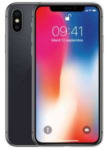 "Smartphone 5.8"" Apple iPhone X - 64 Go, Reconditionné (via 50€ sur la carte + ODR de 20€)"