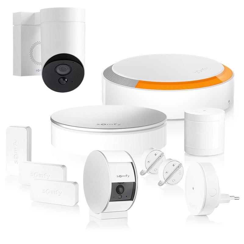 Pack Somfy Home Protect XL + Caméra d'intérieur + Caméra extérieure
