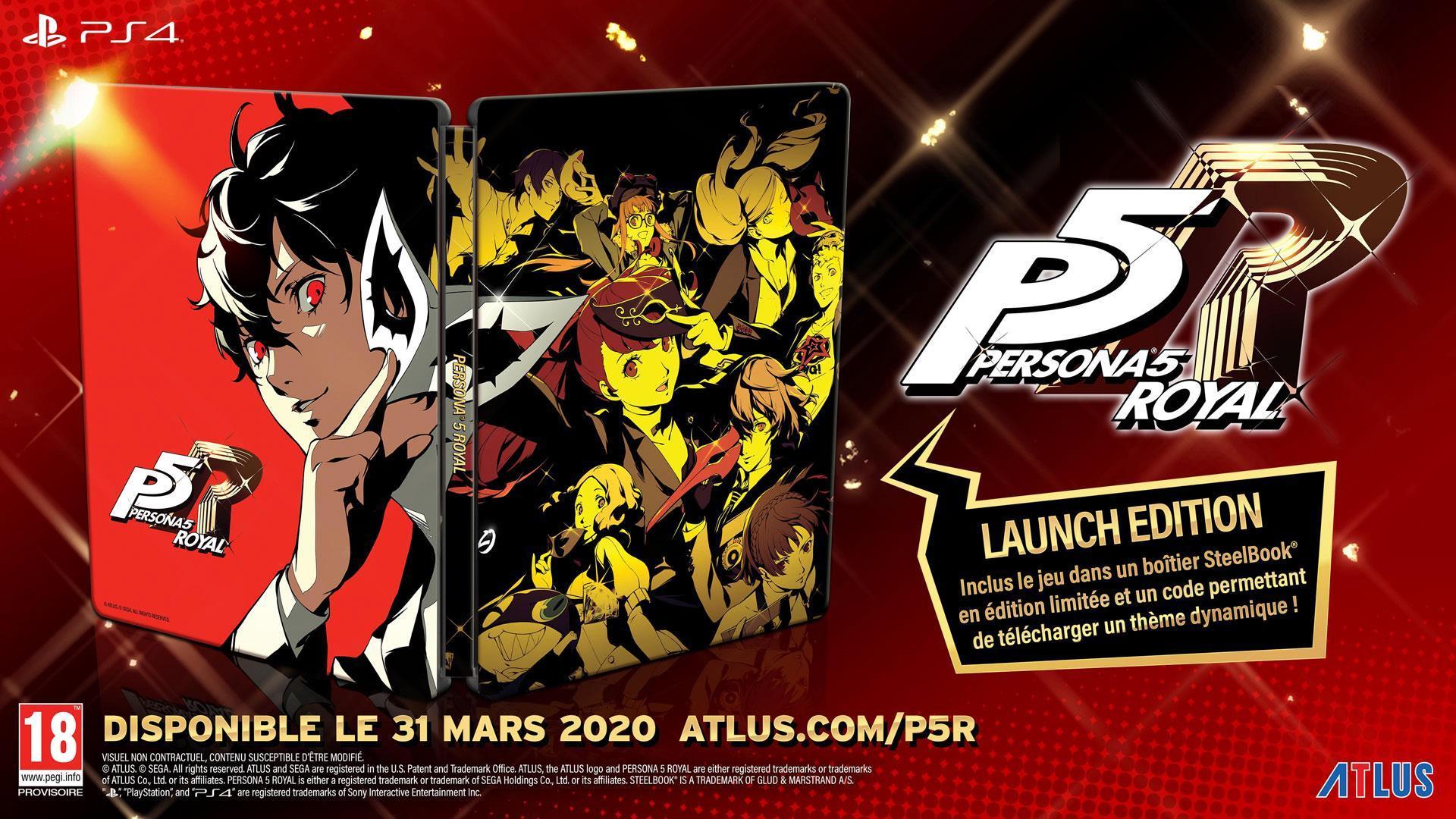 Persona 5 Royal Steelbook Launch Edition sur PS4 - Smartoys (Frontaliers Belgique)