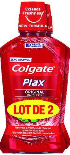 Lot de 2 bains de bouche Colgate Plax Original, Soft Mint ou Ice - 2 x 500 ml (via 4.88€ sur la carte de fidélité)