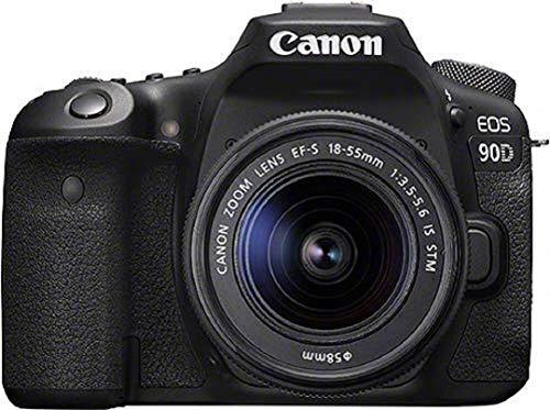 Kit Appareil photo Reflex Canon EOS 90D + Objectif zoom EF-S 18-55mm f/ 3.5-5.6 IS USM - Boîtier nu, capteur APS-C 32 MP, AF 45 points