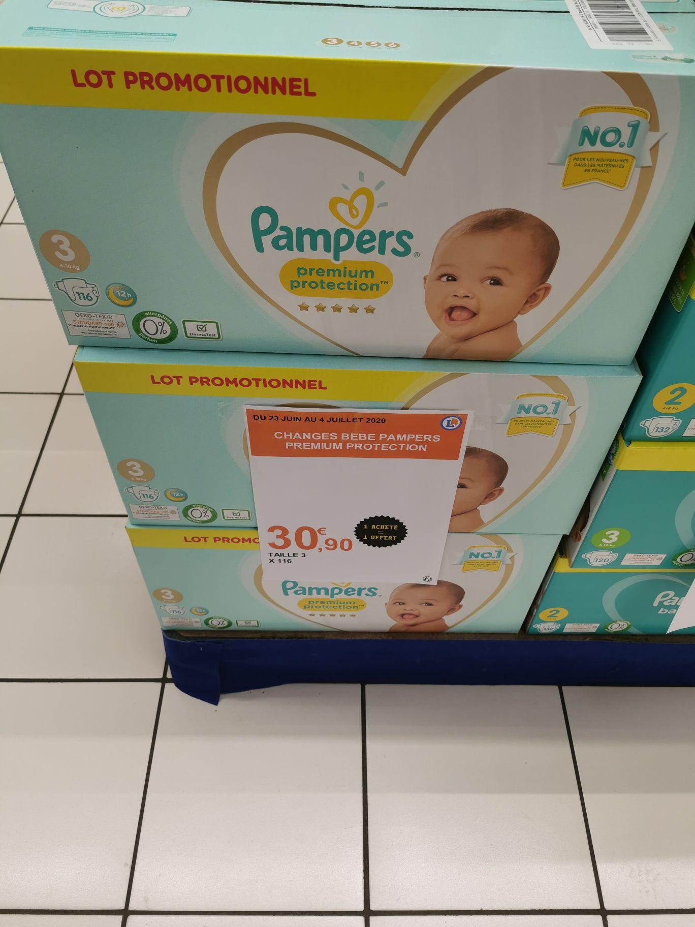 2 Lots de 116 couches Pampers premium protection taille 3 (6 à 10kg) - Blois (41)