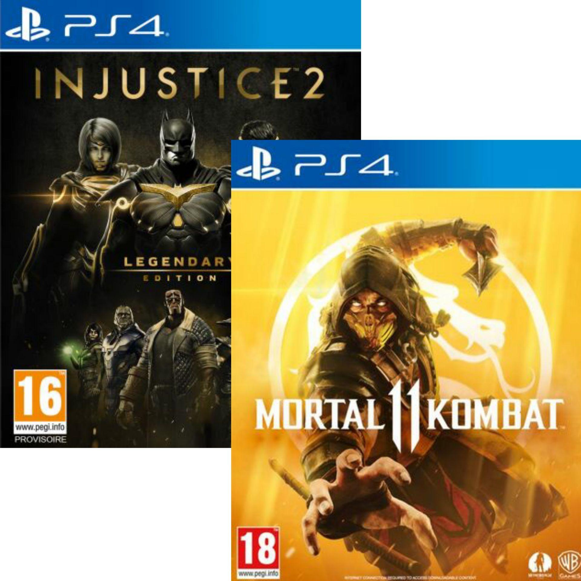 2 jeux Warner achetés = 25€ de remise - Ex : Mortal Kombat 11 & Injustice 2 Legendary Edition sur PS4