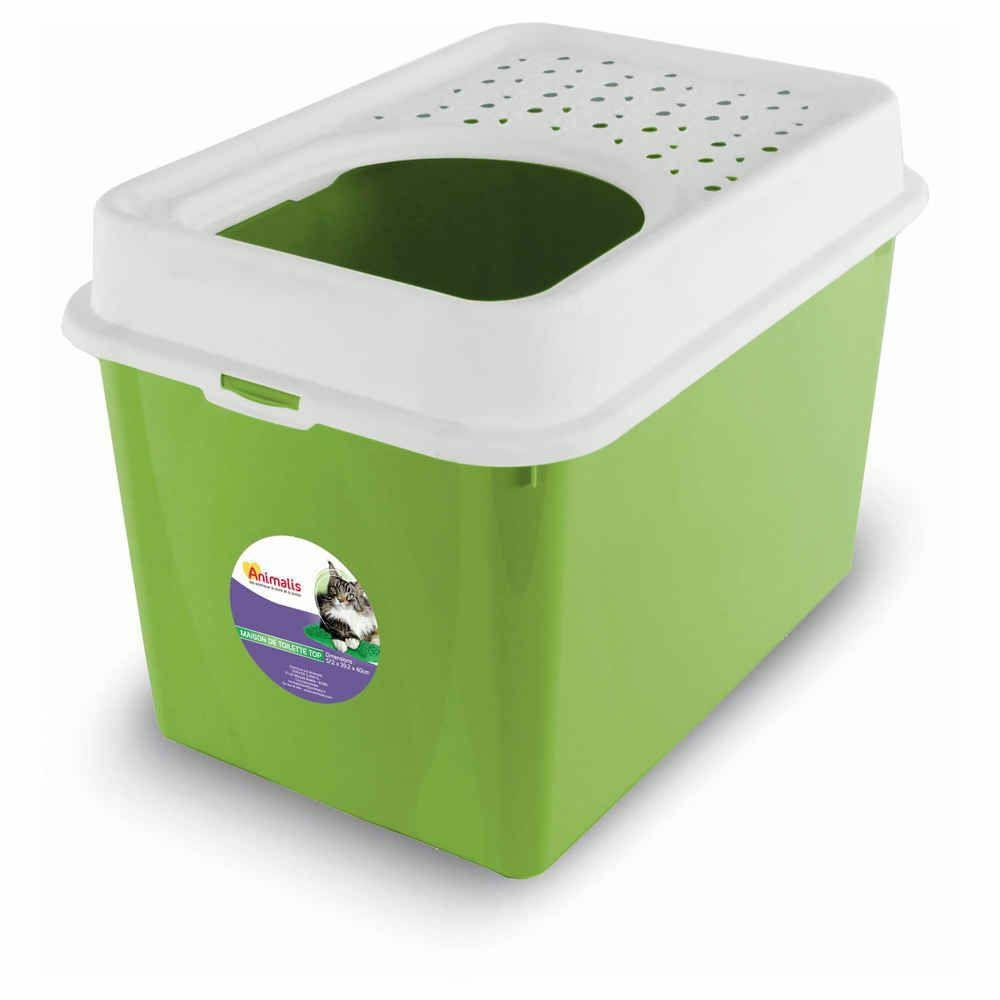 Maison de Toilette Top pour Chat - Vert (Dans une sélection de magasins Animalis)
