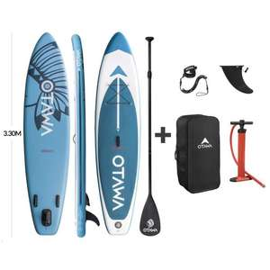 Stand Up Paddle gonflable Otawa (Pagaie + Sac + Pompe + Leash) - 330 x 75 x 15 cm (Vendeur tiers)
