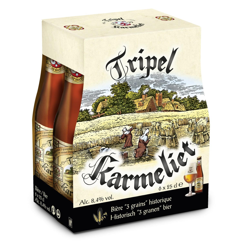 Pack de 6 bières blondes Triple Karmeliet - 6x25cl