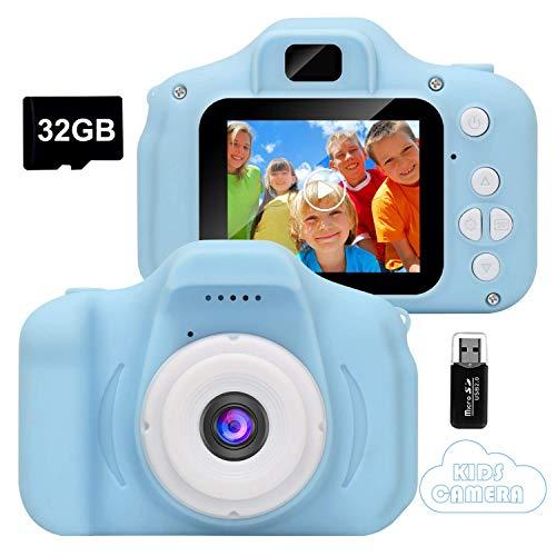 Appareil photo pour enfant GlobalCrown - 1080p, Bleu, Carte 32 Go incluse (vendeur tiers)