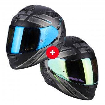 Lot de 2 Casques Moto Scorpion Exo-510 Air Route - Noir, S au XXL