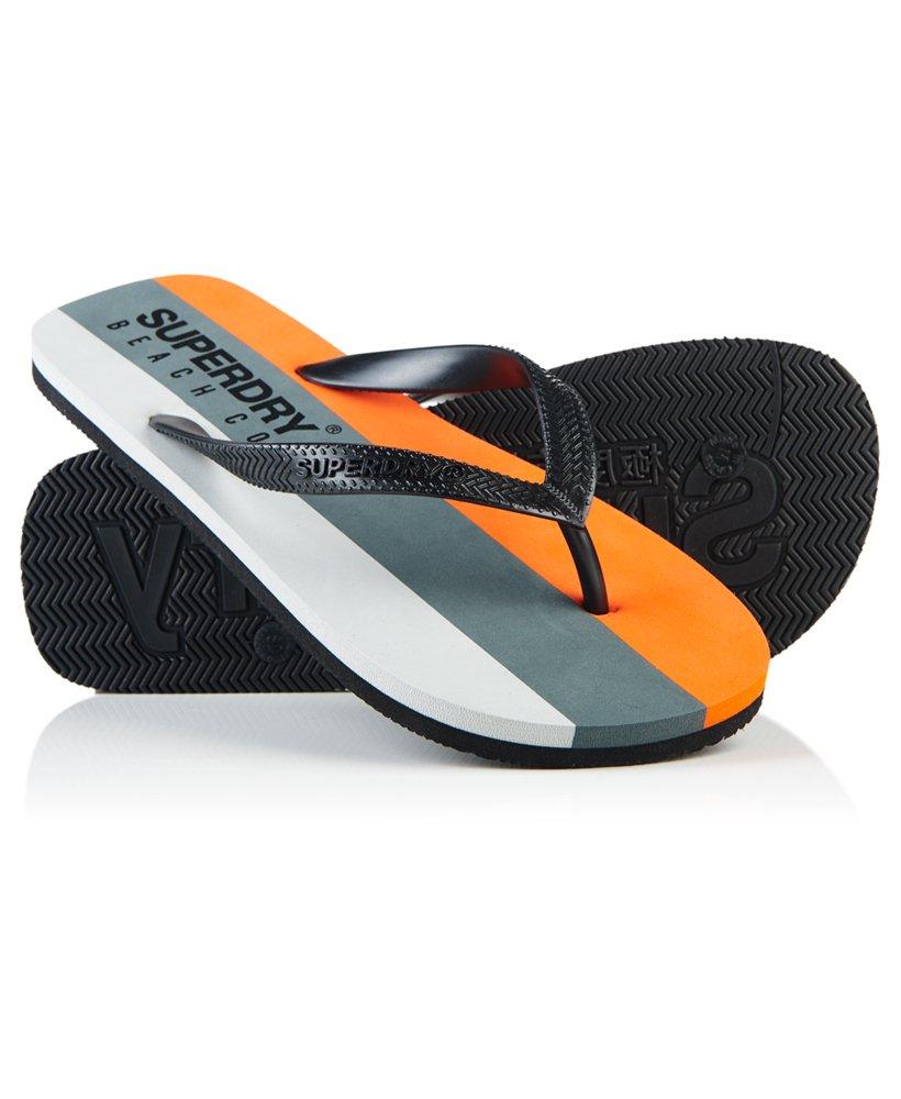 Tongs Superdry Sleek - Gris / Orange, Taille S (40-41)