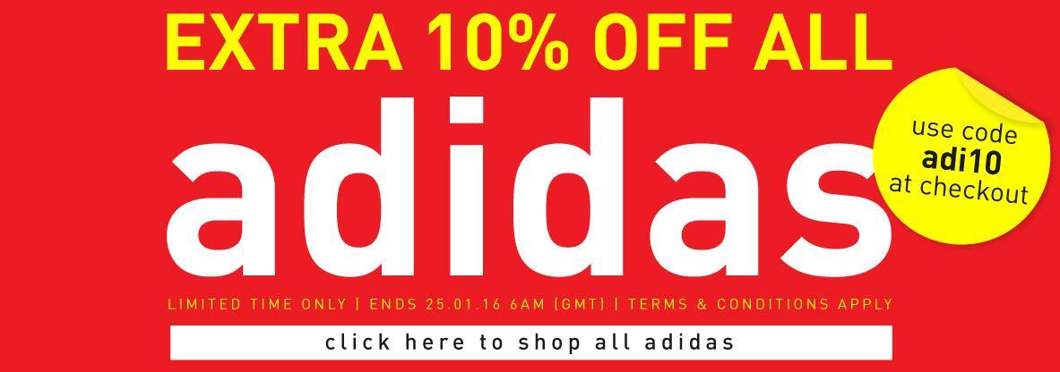 10% de réduction supplémentaire sur toute la marque Adidas