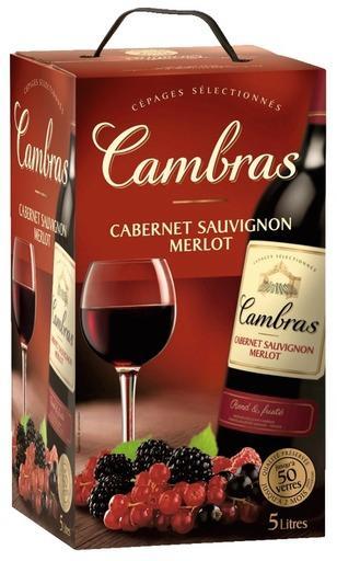 5L de vin rouge ou rosé Cambras