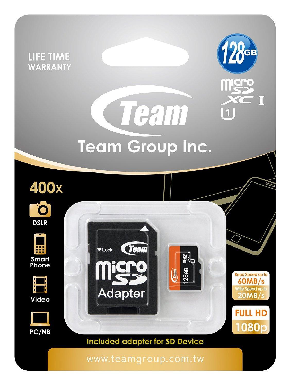 Carte MicroSDXC Team Group 128Go Class 10 UHS-I Grade 1