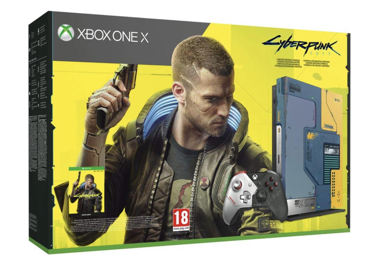 Pack Console Microsoft Xbox One X Edition Limitée - 1To + Cyberpunk 2077 (Dématérialisé)