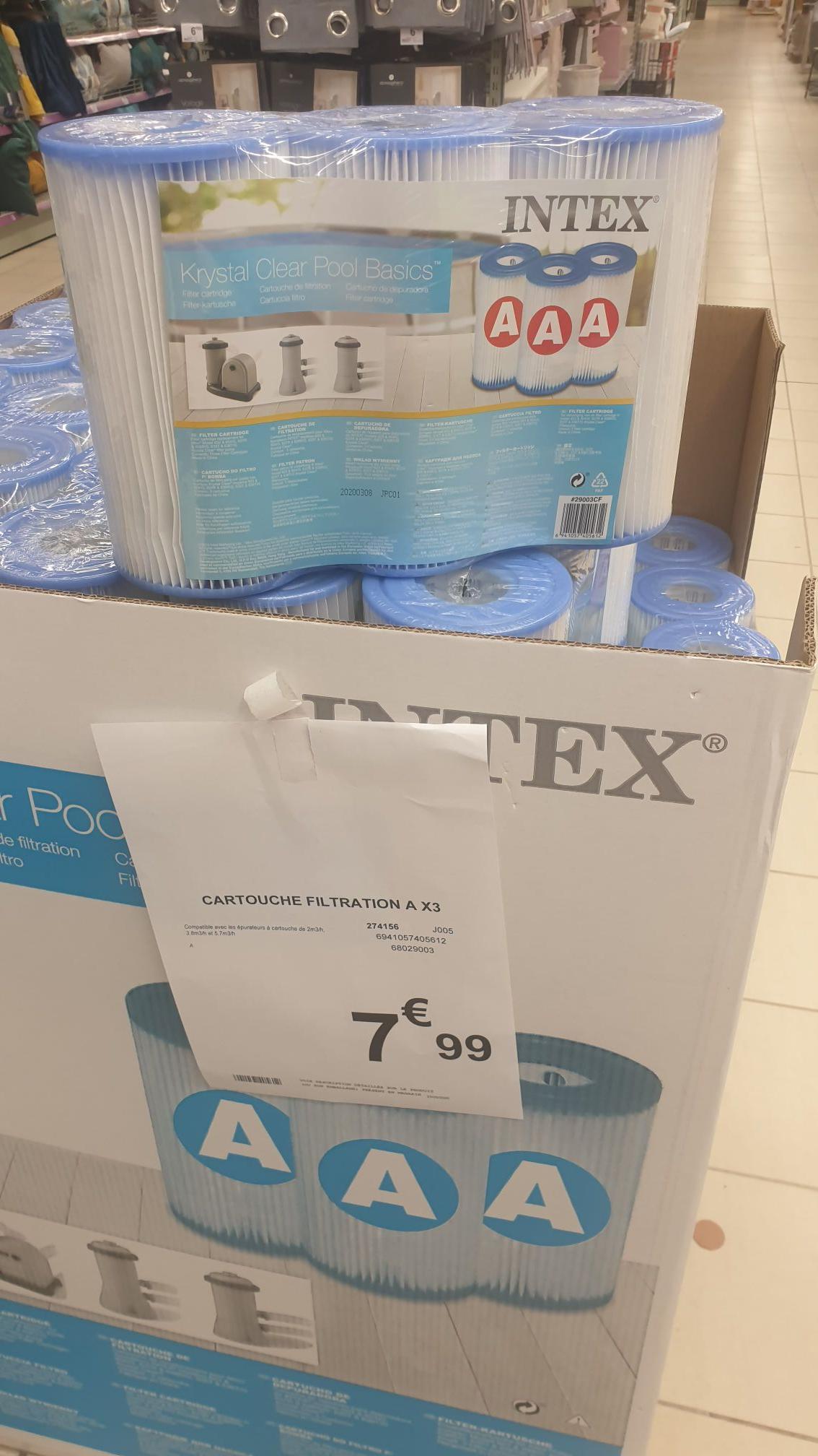 Lot de 3 cartouches de filtration Intex (Type A) - Tourcoing (59)