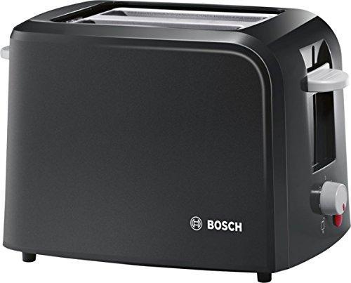 Grille-Pain Bosch TAT3A013GB Village 980W 2 fentes-Noir ou rouge