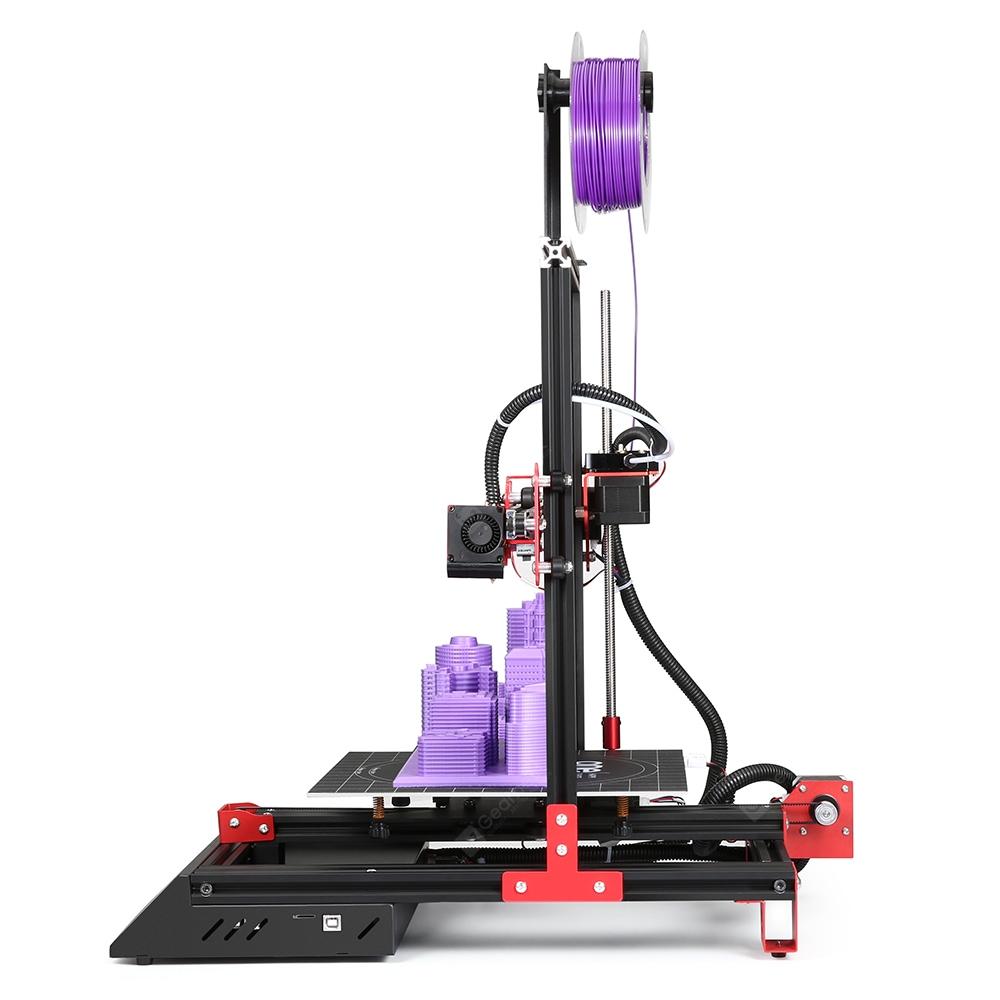 Imprimante 3D Alfawise U50 DIY FDM - Ecran Tactile 3,5 pouces - Noir (Prise EU)