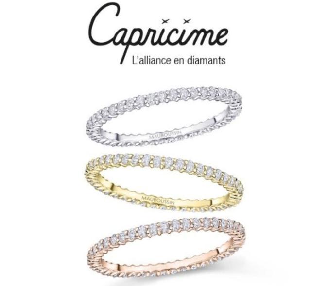 Alliance Capricine - Or Blanc/Jaune/Rose + Diamants HSI
