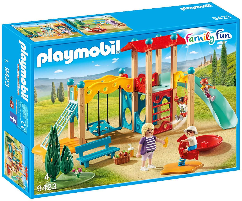 Jouet Playmobil Family Fun : Parc de jeu avec toboggan n°9423