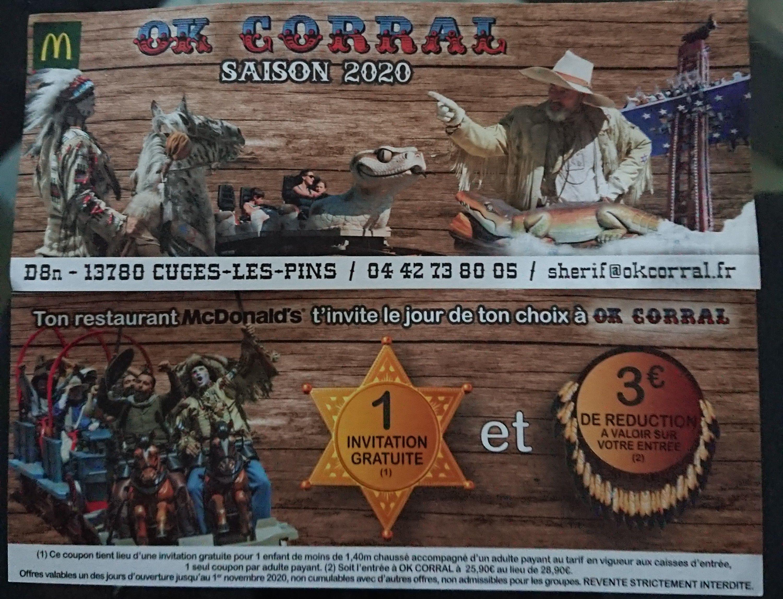 1 Entrée Enfant Offerte pour le Parc d'Attractions OK Corral dans chaque Menu Happy Meal - Vitrolles (13)