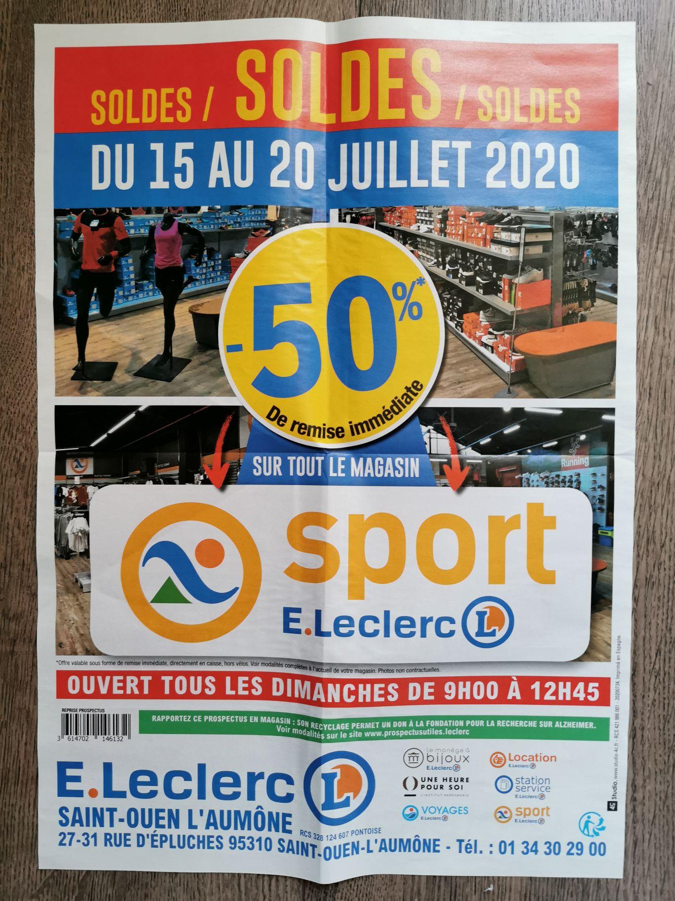 50% de réduction sur tout le magasin (Hors vélos) - Saint-Ouen-l'Aumône (95)