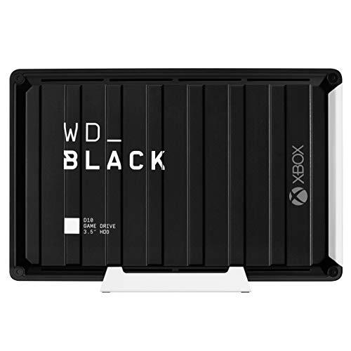 "Disque dur externe 3.5"" Western Digital Black D10 Game Drive (7200 tr/min) - 12 To + Abonnement Xbox Game Pass Ultimate 3 Mois"
