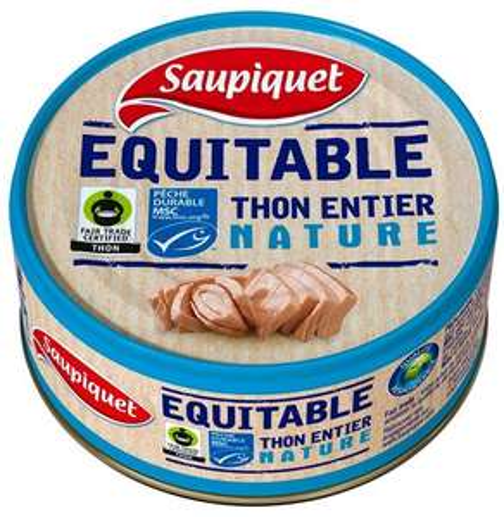 2 boites de Thon entier Saupiquet Equitable MSC - 2 x 112g (via 1.49€ sur carte fidélité et 1.99€ via Shopmium)