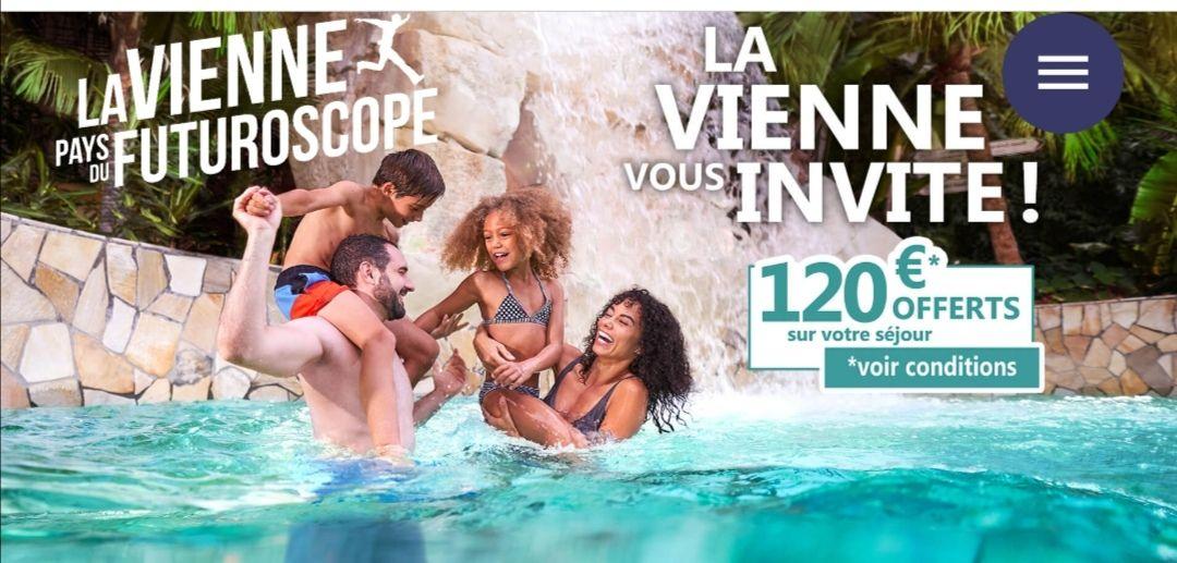 Jusqu'à 120€ offerts pour une réservation d'un séjour dans La Vienne (pays-du-futuroscope.com)