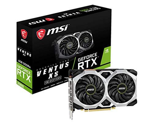 Carte Graphique MSI GeForce RTX 2060 Ventus XS 6G OC PCI-E, HDMI, 3xDP