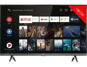 "TV 43"" TCL 43EP663 - 4K UHD, LED, HDR Pro, Android TV (via ODR de 50€)"