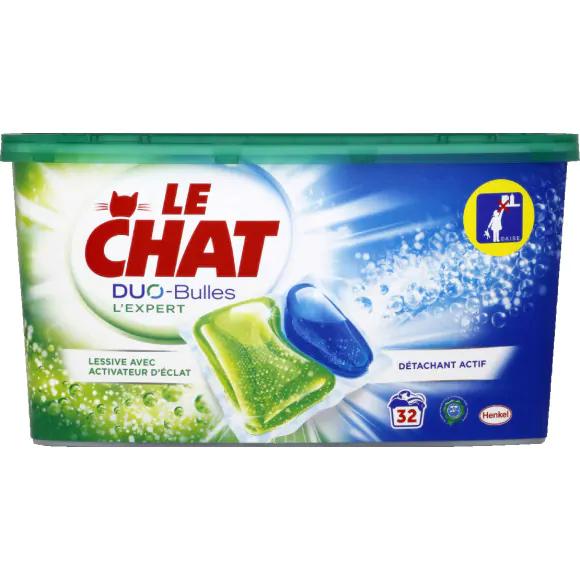 Boite de 32 Capsules de Lessive Le Chat Duo-Bulles (Via 4,68€ sur Carte de Fidélité + BDR)