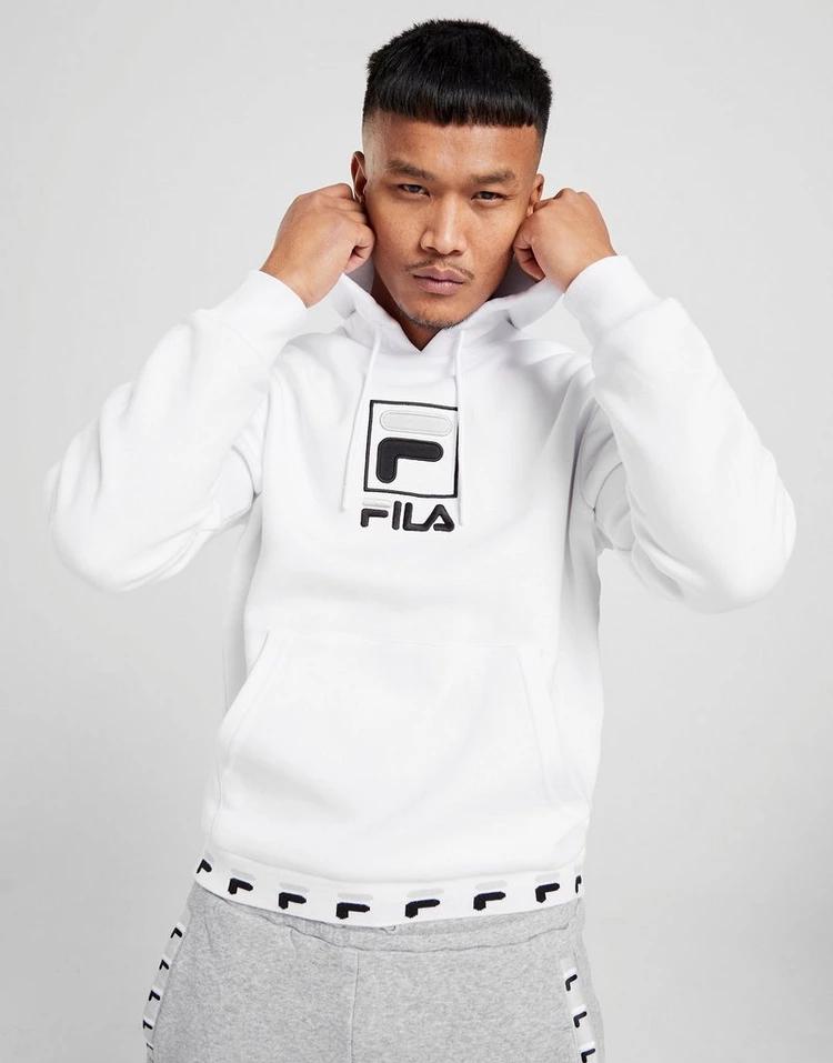Sweat-shirt à capuche Fila Lark - blanc (du XS au XL)