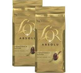 Lot de 2 paquets de Café L'Or Absolu en grain - 2 x 1kg