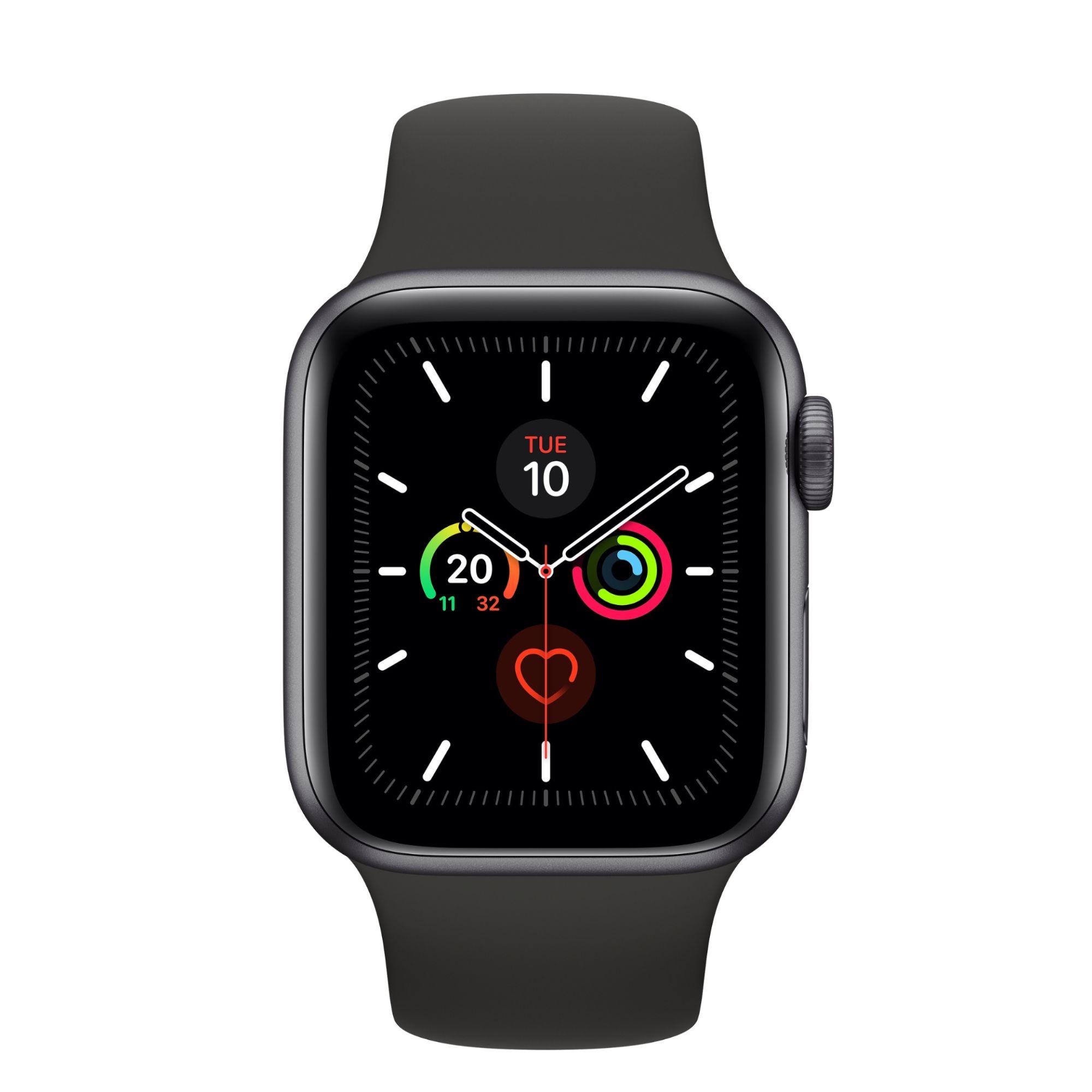 Montre connectée Apple Watch Series 5 GPS - 40mm, Bracelet sport Gris sidéral (+ 34.64€ en SuperPoints)