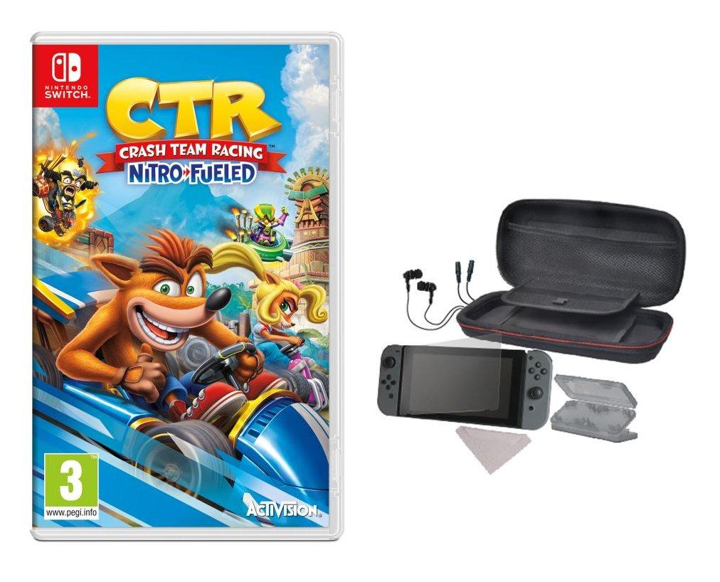 Pack Crash Team Racing: Nitro-Fueled sur Nintendo Switch + Set d'accessoires 6-en-1 Alpha Omega Players